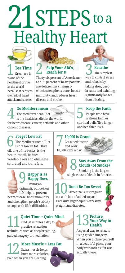 21 Steps to A Healthy Heart. #HeartHealth via @Nancy Norris Medical