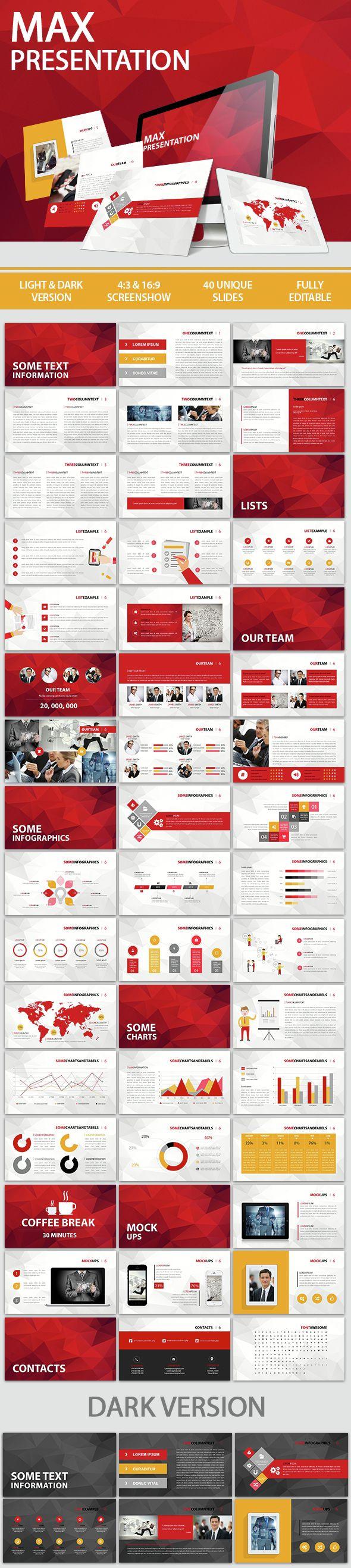 Max Presentation - Keynote Templates Presentation Templates