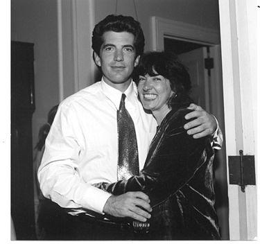 John Kennedy Jr. and his dear friend Christiane Amanpour on his wedding eve. (MARTA SGUBIN)