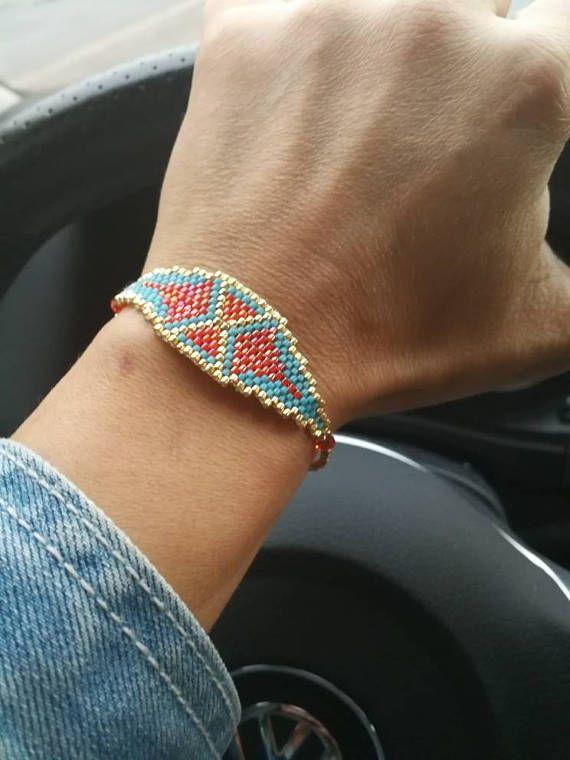 etnische peyote armband