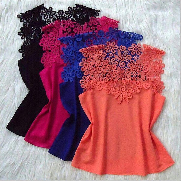 Cheap Fanshou envío gratis 2014 mujeres blusa primavera verano mujeres Tops Floral camisas de encaje sin mangas Patchwork blusa de la gasa Blusas, Compro Calidad Blusas y Camisas directamente de los surtidores de China:                           %0A%0A        Art. no              4486   %0A%0A        Tamaño                    S M L XL