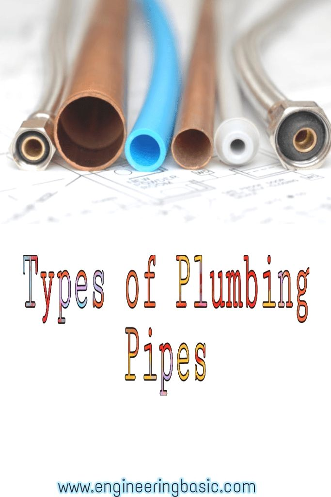 Types Of Plumbing Pipes Engineering Basic Types Of Plumbing Pex Plumbing Plumbing Pipes