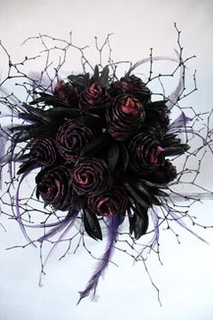 gothic wedding flowers best 20 purple black wedding ideas on silver 4584