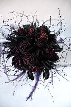 gothic wedding bouquets | ... wedding bouquets, gothic flowers, gothic wedding flowers, goth bouquet
