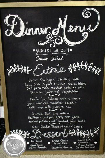 diy-wedding-chalkboard-signs-final-dinner-menu