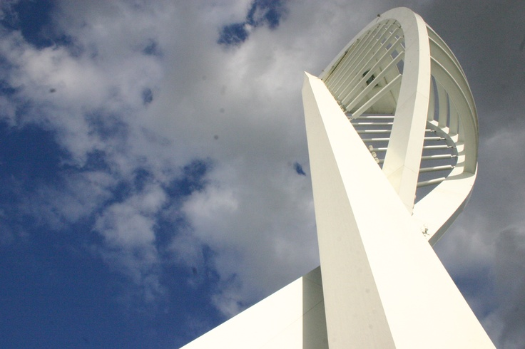 Spinnaker tower.  Again in this image, the perspective relates it to Ernst Haas.
