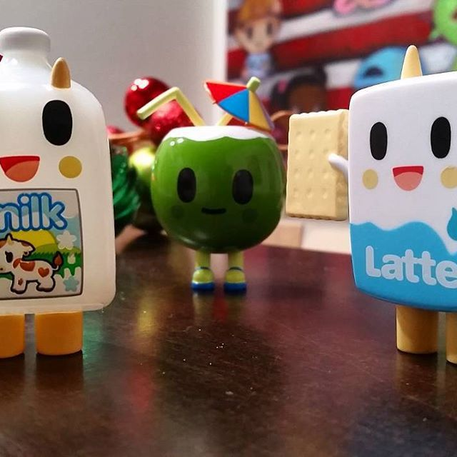 Some new friends are saying hello before they go out to the world in 2016!  Moofia series 2 available early next year! @tokidokibrand #tokidoki #moofia #kawaii #milk #latte #coconut #toy #toyphotography #cute #popculture #design #designertoy #arttoy