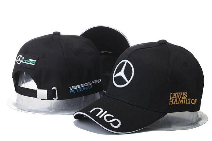 Mens / Womens Unisex Mercedes Benz AMG PETRONAS F1 LEWIS HAMILTON Baseball Adjustable CAP - Black / White
