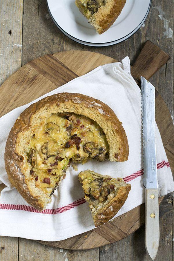 Quiche in brood