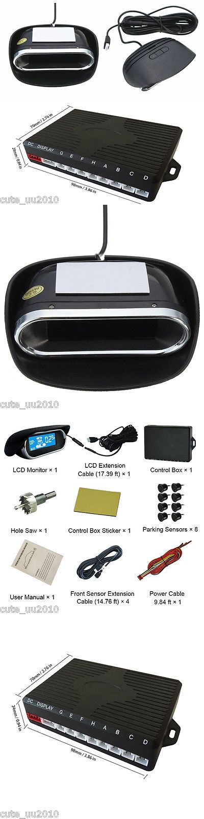 Relays and Sensors: 8 Parking Sensors Led Display Car Auto Reverse Radar Collision Avoidance System -> BUY IT NOW ONLY: $59.89 on eBay!
