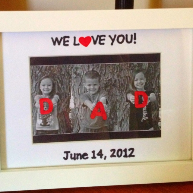 Fathers day gift from the kids
