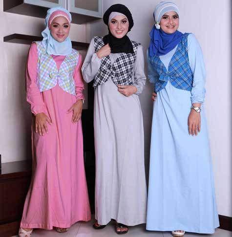 foto busana muslim wanita modern style korea