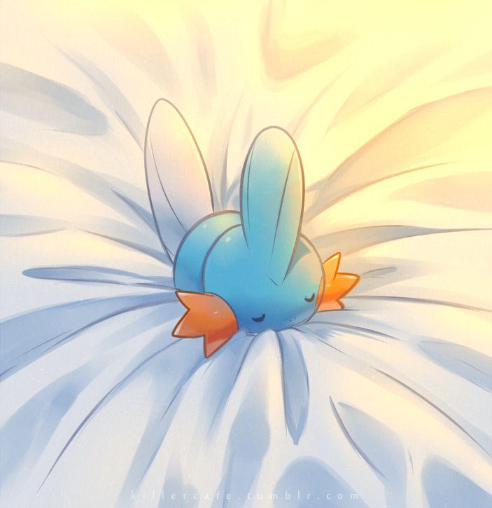 Sleeping Mudkip by Yajuuu on DeviantArt