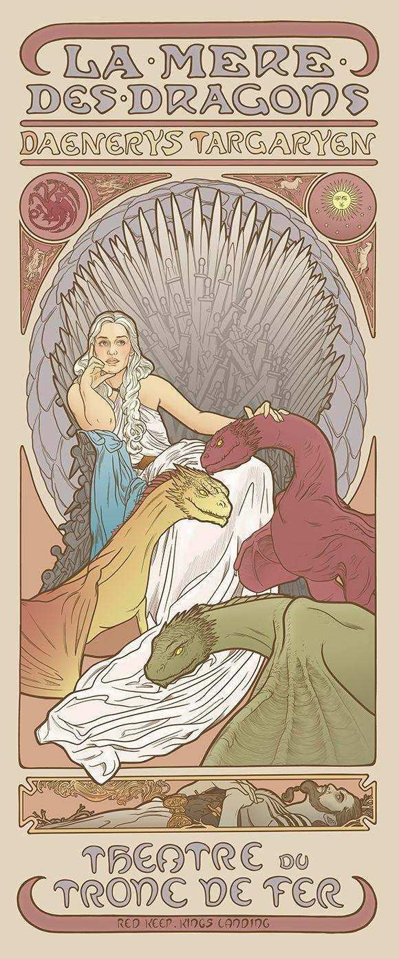 4 sortes d'illustrations des personnages de Game of Thrones