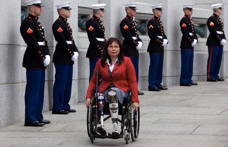 Sen. Tammy Duckworth takes Trump to task over his trans military ban.  The Purple Heart recipient isn't messing around.