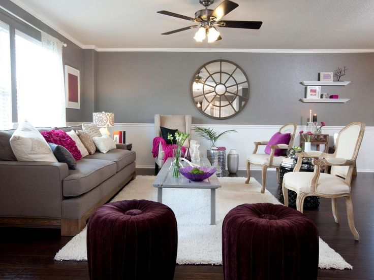 14 ways to decorate with plum plum color palettes plum - Accent colors for beige living room ...