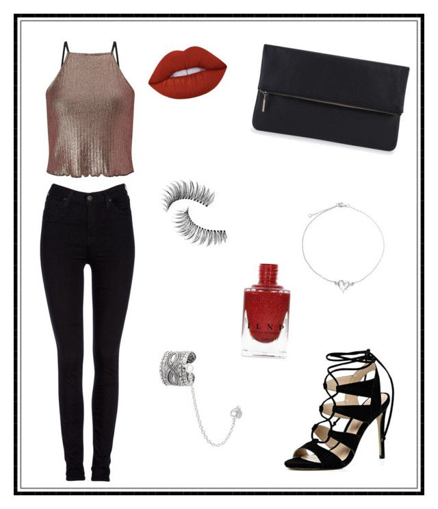 """""""#142"""" by e-elmedal on Polyvore featuring Miss Selfridge, Lee, River Island, Whistles, Trish McEvoy, Journee Collection, Bling Jewelry and Lime Crime"""