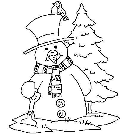 Dessin bonhomme de neige no l a colorier silhouettes et dessins n b pinterest dessin - Bonhomme de neige a colorier ...
