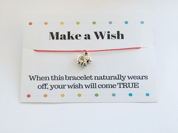Elephant Bracelet Make a Wish Elephant Bracelet Red String