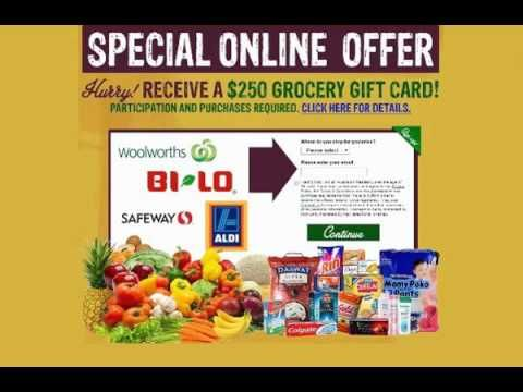 43 best gift for all images on pinterest gift cards gift get a 250 grocery gift card enter your email now negle Image collections
