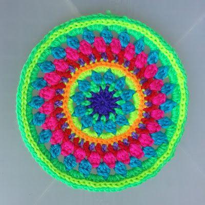 crochet circle via crochetapy rainbow crochet crochet circles crochet ...