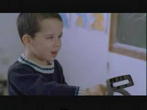 french commercial--too funny!! Kid does whatever he wants because his momma said it was okay