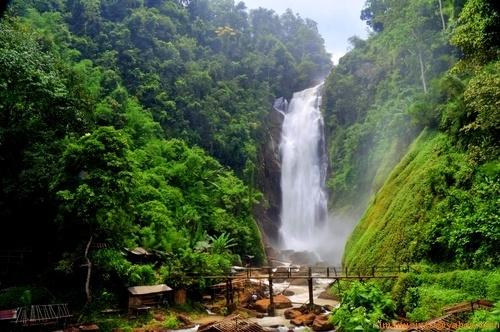 Curup Tenang (Tenang waterfall), South Sumatera of Indonesia