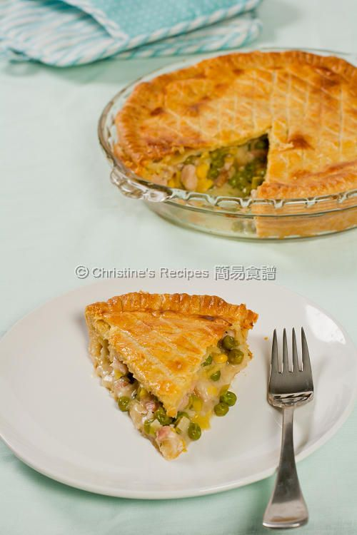 Chicken, Leek and Pea Pie (Maggie Beer's Sour Cream Pastry) from Christine's Recipes