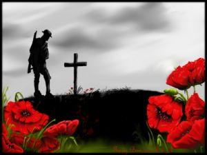 """""""We shall not sleep, though poppies grow in Flanders Fields"""" 
