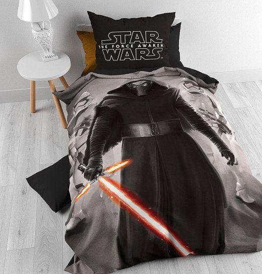 Bettwäsche Disney Star Wars Epic 7 Master, 140cm x 200cm, Mit 1 Kissenbezüg 60cm x 70cm, Grau