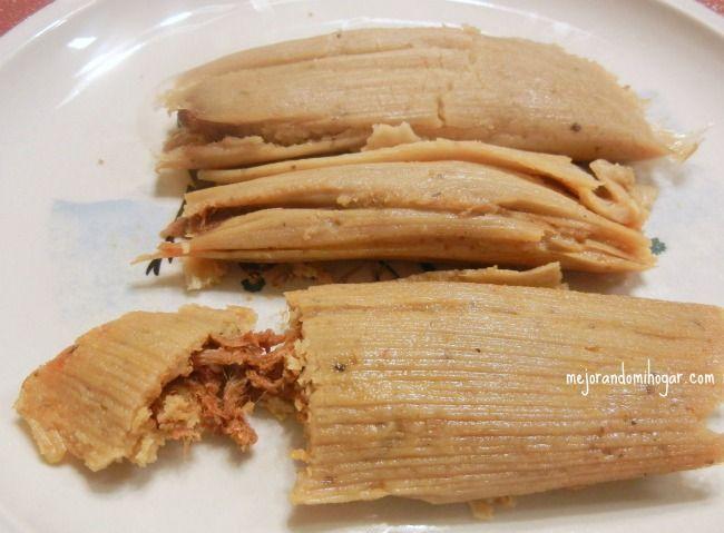 receta tamales mexicanos puerco frijol