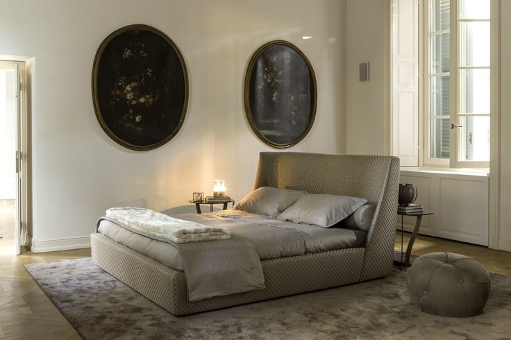 #VIVIEN #BED - CONTROLUCE - #HOME #ITALIAN #FASHION #Harmony, #elegance and #comfort characterize VIVIEN bed, with a high headboard, #comfortable and #sensual as an #embrace Fabric and leather covers.