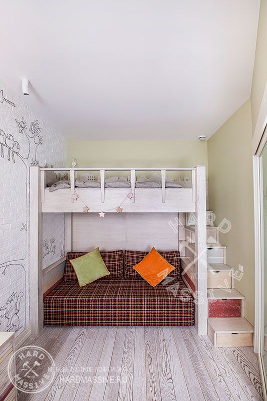 Детская двухъярусная кровать на заказ из массива дерева #hardmassive #modernbed #bedwood