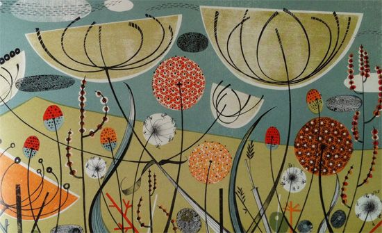 ... Angie Lewin. Her work takes great inspiration from her natural environment and her clever colour combinations are beautiful. Looking at her work reminds ...