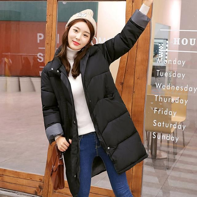 HIJKLNL manteau femme hiver Ladies Coat 2017 Winter Coats and Jackets Women Warm Turtleneck Long Jacket Padded Parka Mujer NA415