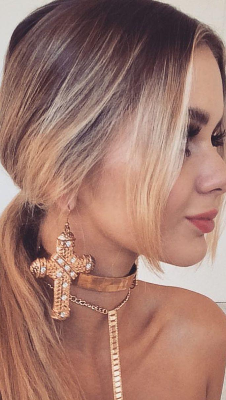 Burans - Kafal - Royal Cross Earrings