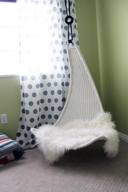 I have wanted a hanging chair, egg chair, papasan chair, for as long as I can remember (I am actually not kidding, my dreams began around 3) So I believe this must go in a future nursery (for me, not a baby)