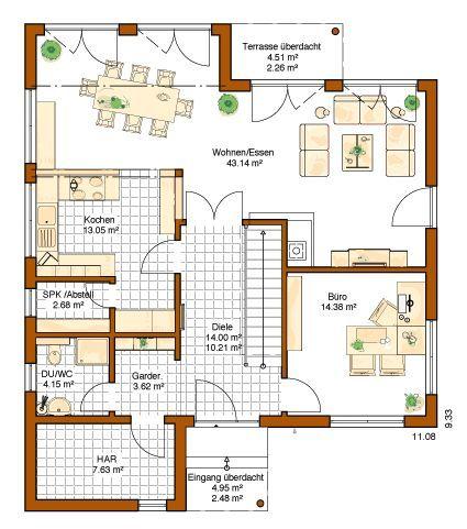 RENSCH HAUS - Plus-Energie-Haus - Musterhaus Avenio Garderobe, Gästebad, SPK