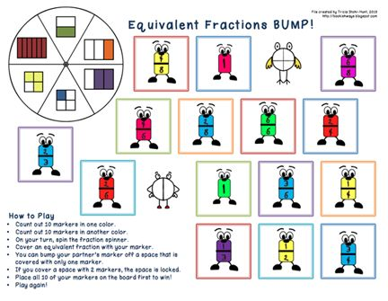 Here's a set of two different equivalent fractions BUMP boards.