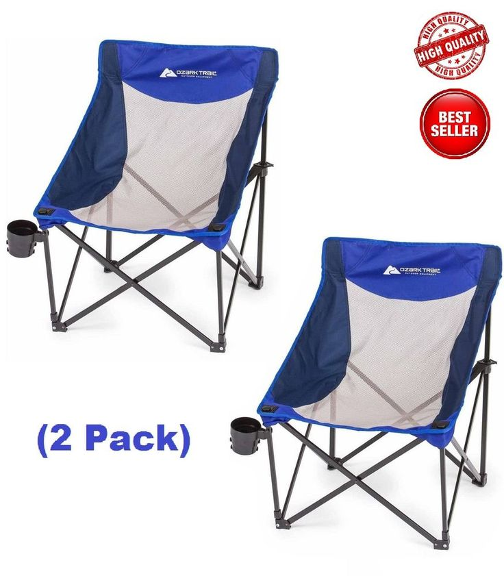 Camping Folding Chair Armchair Picnic Beach Fishing Hunting Outdoor Set of 2 #OzarkTrail