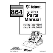 Bobcat 864 G-Series Skid Steer Loader Parts Manual PDF
