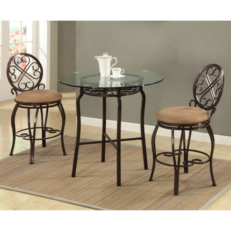 Chintaly Lily 3-Piece Counter Height Pub Table Set - CTY2130