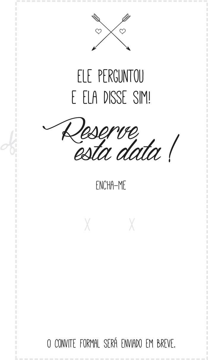 Faça seu próprio save the date. Modelo gratuito para download |http://www.blogdocasamento.com.br/faca-seu-proprio-save-the-date-modelo-para-download/