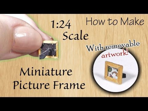 DIY How to Make Miniature Picture Frame Tutorial - YouTube