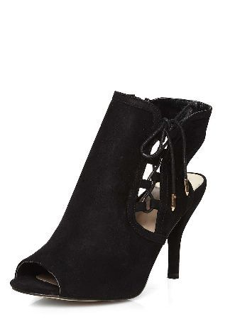 Dorothy Perkins Womens Wide Fit Black Wishful shoe boots- Wide fit balck suedette Wishful foot coverage shoe boot with side ghillie lace up and 3 heel. 100% Fabric. http://www.MightGet.com/january-2017-13/dorothy-perkins-womens-wide-fit-black-wishful-shoe-boots-.asp