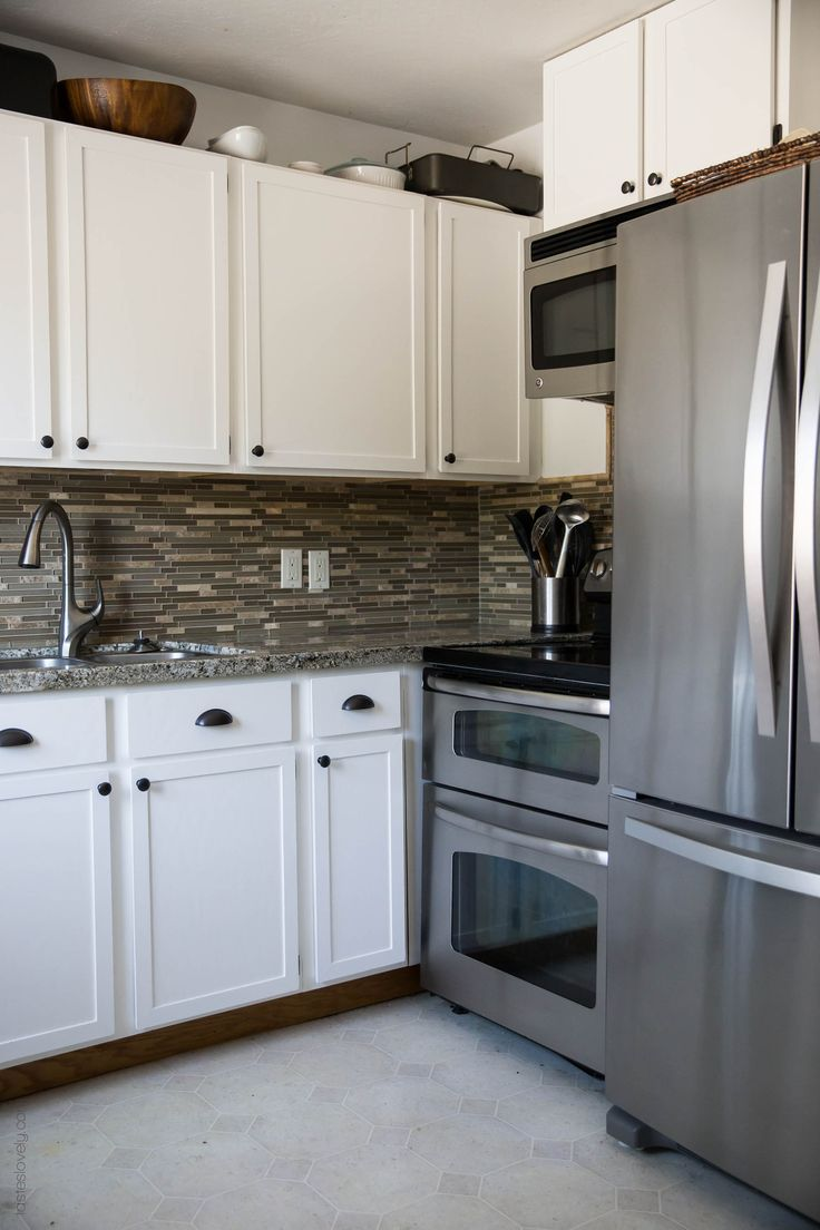 B82944 kitchen cabinets diy kitchens - Our 281 Diy Kitchen Remodel Diy Painting Oak Cabinets White Adding Wood Trim To