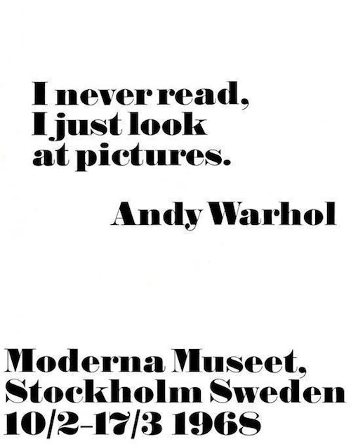 Mode & Maison: Andy Warhol posters www.modernamuseet.se/sv/Stockholm if ever in stockholm