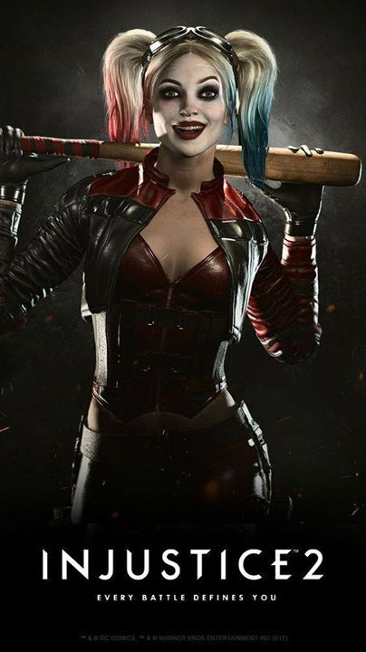 I love this picture of Harley Quinn and I also love the new injustice game it's so awesome go on and buy it now (this is not sponsored I swear) :)