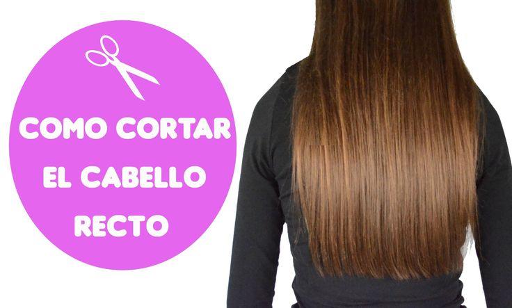 Cómo cortar el cabello recto / How to cut straight hair #hair #cabello #cortarcabello #belleza #beauty