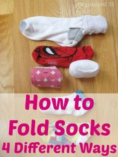 Keeping drawers organized makes it easier to find things. My sock drawer needs these ideas. Right now they are just mess. How to Fold Socks 4 Different Ways - Organized 31